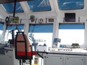 Aurinkosuojaverho laivassa